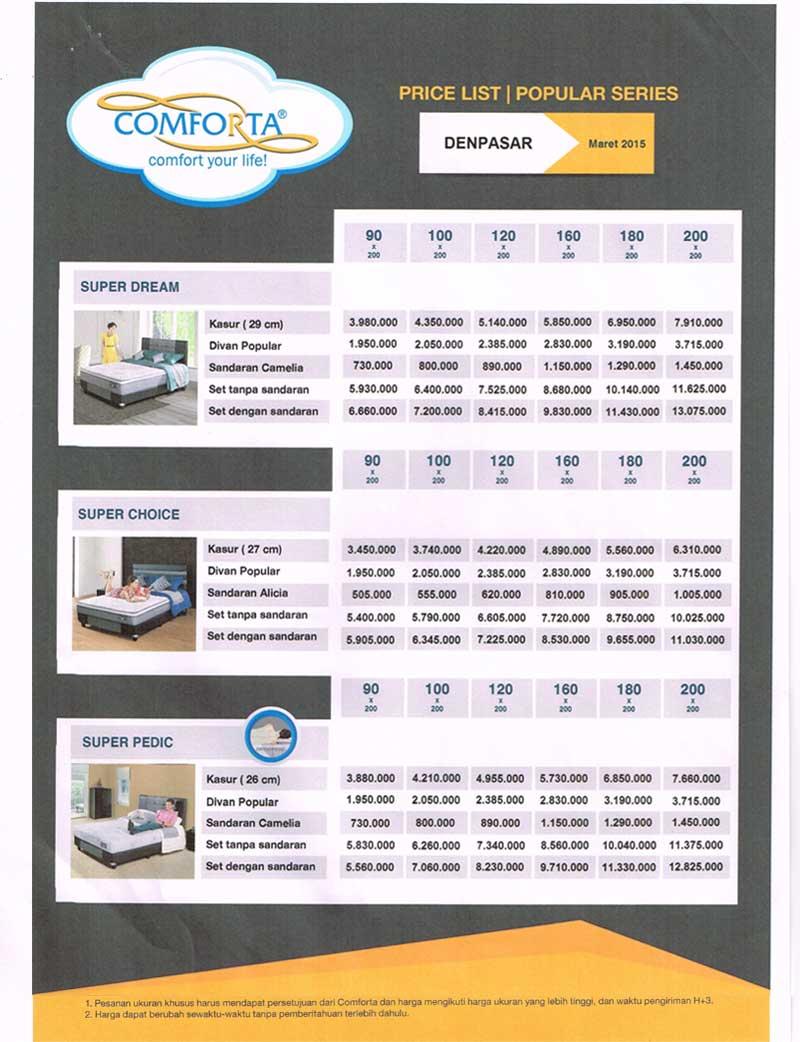 comforta-price-list-2