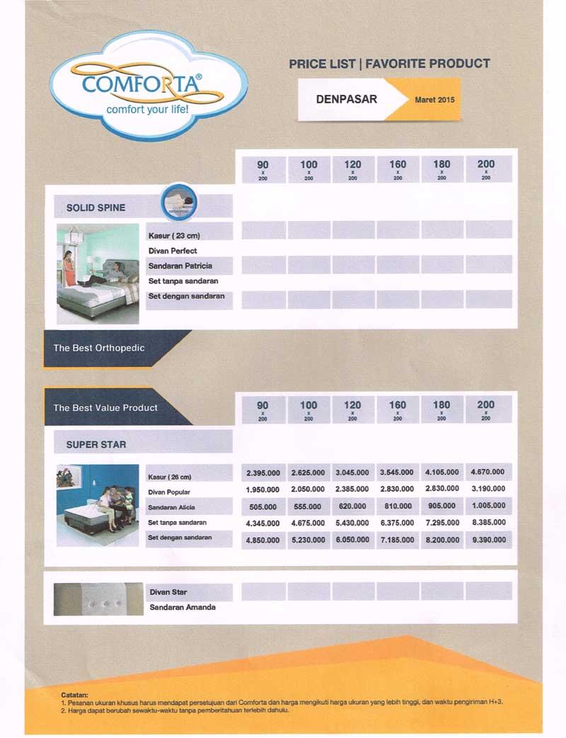 comforta-price-list-3